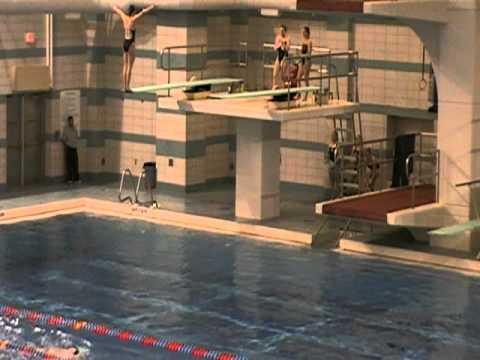 Ohio University vs Miami, Feb 2011   3 Meter Diving, Hamilton, Capcik, Gordish