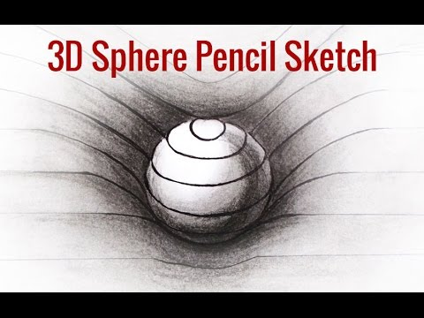 3d drawings tricks learn how to make a 3d sphere in few steps 3d art pencil drawings youtube