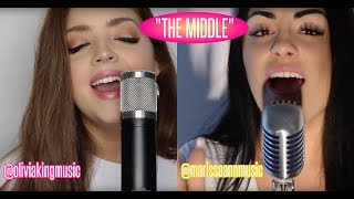 Zedd, Grey - The Middle ft. Maren Morris (Olivia King & Marissa Ann Cover)