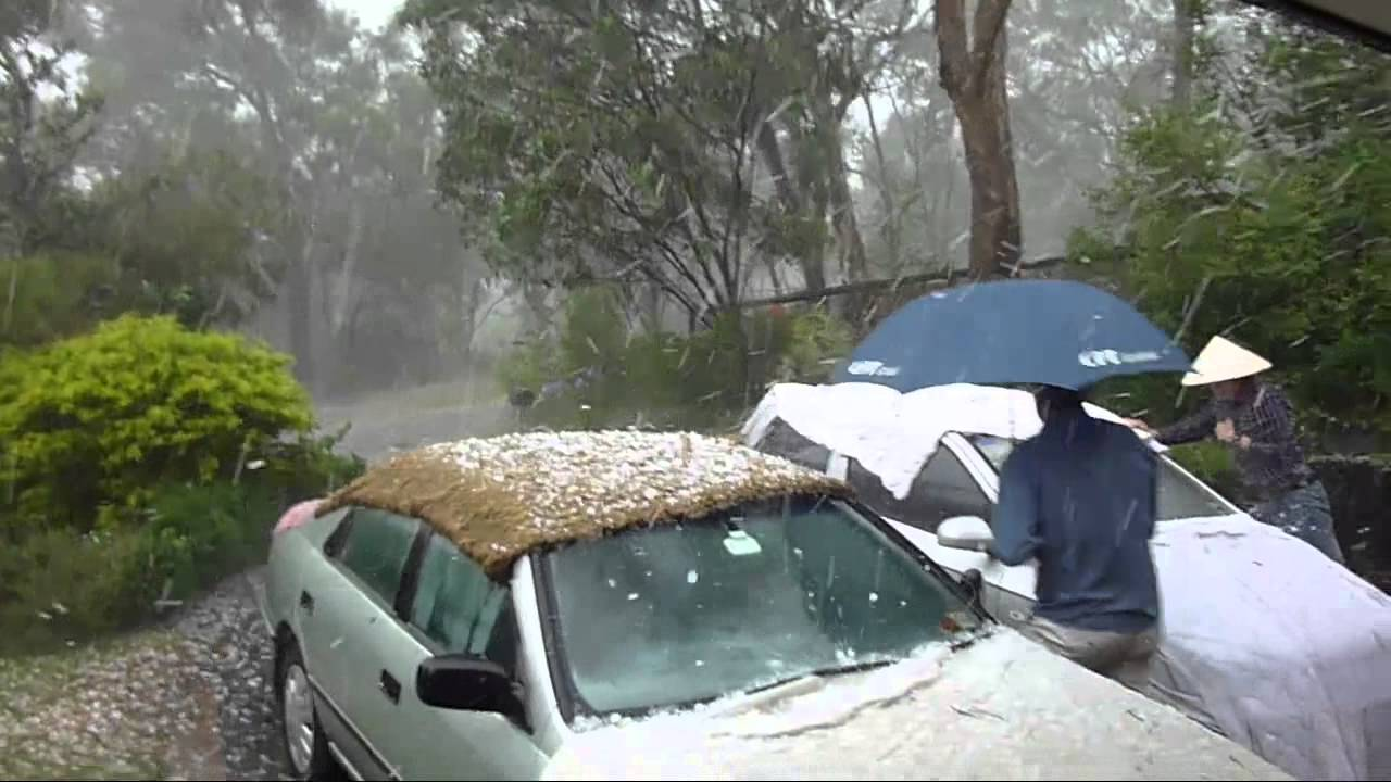 Melbourne Hail Storm on Christmas Day