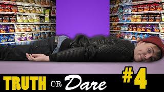 LIGGEN IN EEN SUPERMARKT! Truth or Dare #4