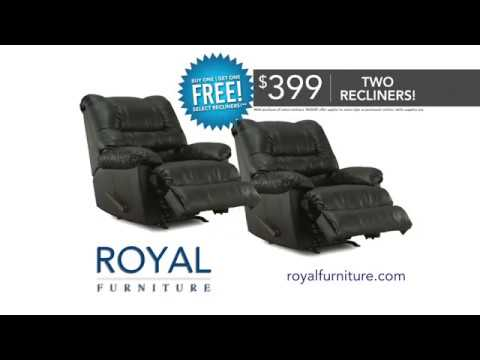 Royal Furniture Buy One Get One FREE Recliners