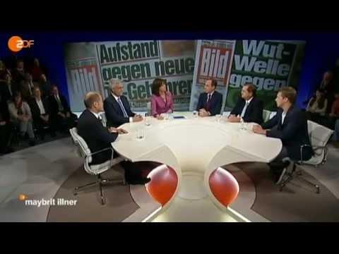 maybrit illner: Sind ZDF und ARD ihr Geld wert - ZDF (1/5) (17.01.2013)