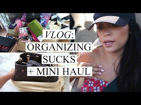 VLOG: ORGANIZING SUCKS + MINI HAUL | Stephanie Ledda