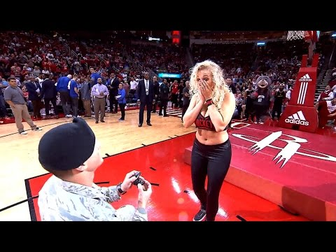 Houston Rockets Dancer Gets Surprise PROPOSAL!!!