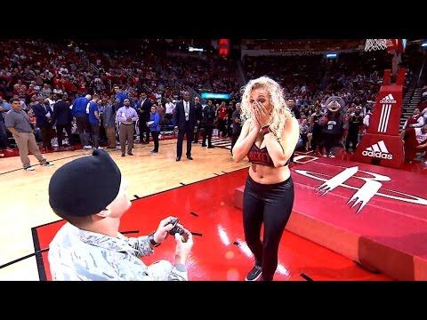 Houston Rockets Dancer Gets Surprise PROPOSAL!!!