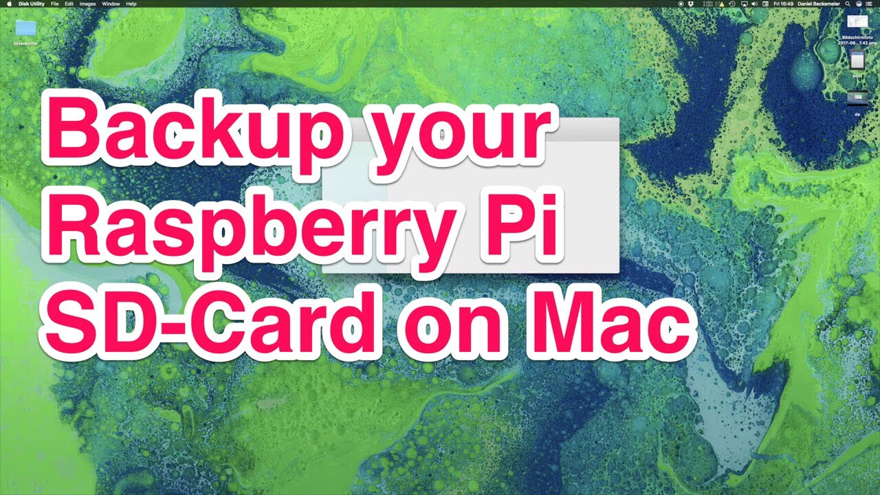 Backup of Raspberry Pi SD-Card to an image on Mac