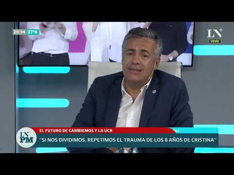 Alfredo Cornejo con definiciones sobre el futuro de Macri, Cambiemos y la UCR