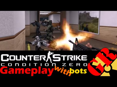 Counter-Strike: Condition Zero Gameplay With Hard Bots - Office - Terrorist