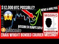 WILL BITCOIN BREAK $9000? Craig Wright MISSING BONDED COURIER! BSV DUMP!