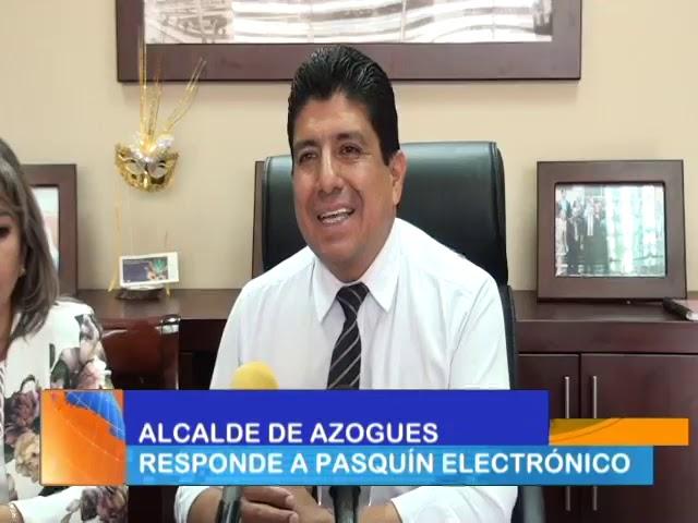 Alcalde de Azogues, Romel Sarmiento, responde a video que circula en redes sociales.