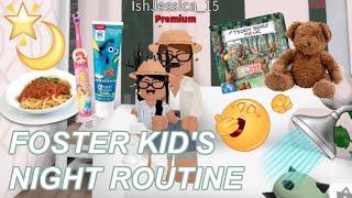 FOSTER Kindernacht Routine♡ | Roblox Bloxburg | iiarabellaa