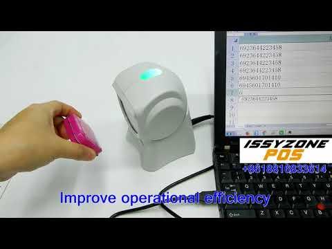 IOBC036 High Speed Desktop Handsfree Omni Directional 2D Barcode Qr Code Scanner