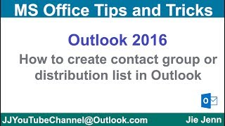 How to create a contact group (distribution list) in Outlook | Outlook Tutorial