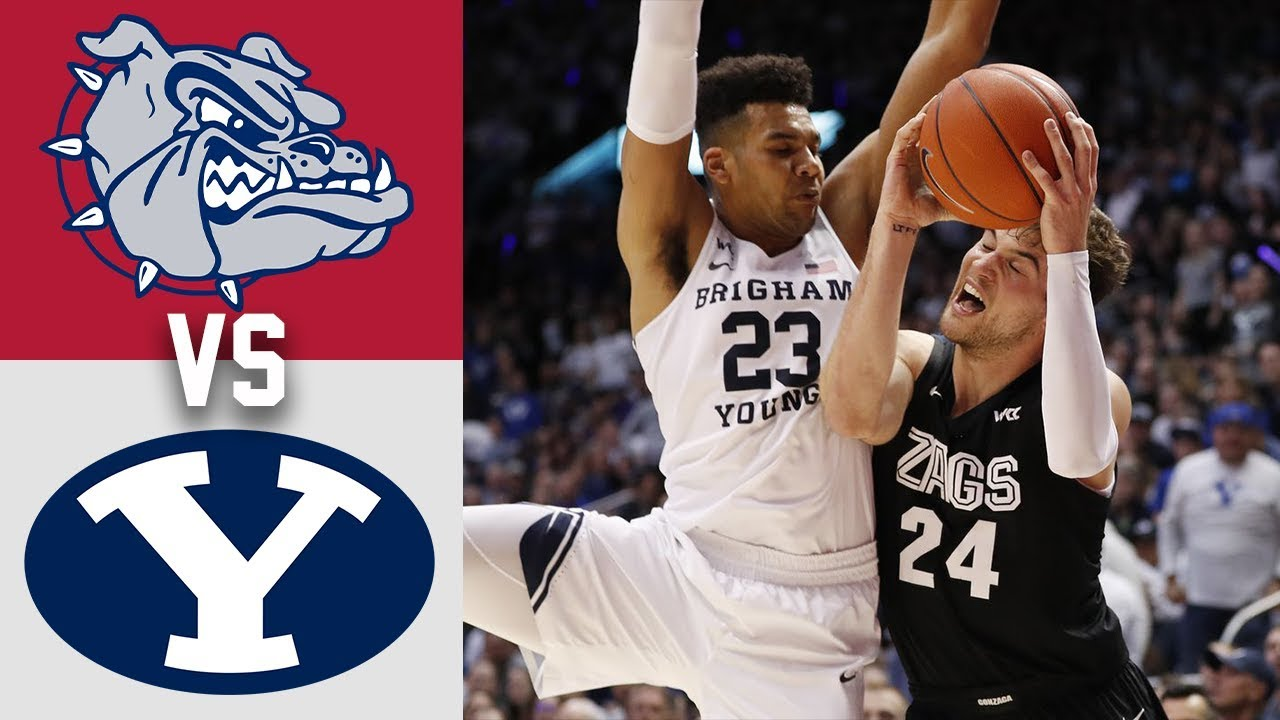 #2 Gonzaga vs #23 BYU Highlights 2020 College Basketball