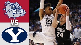 #2 Gonzaga vs #23 BYU Highlights 2020 College Basketball
