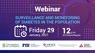 Webinar: Surveillance and Monitoring of Diabetes in the Population