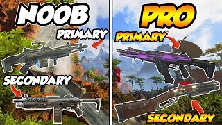 APEX LEGENDS   THE 3 BEST WEAPON LOADOUTS BASED ON PLAYER SKiLL!!! WHiCH LOADOUT ARE YOU???
