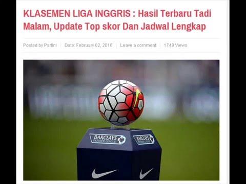 KLASEMEN LIGA INGGRIS Hasil Terbaru Tadi Malam, Update Top