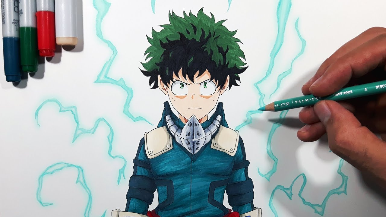 Tutorial How To Draw Midoriya Izuku Deku My Hero Academia