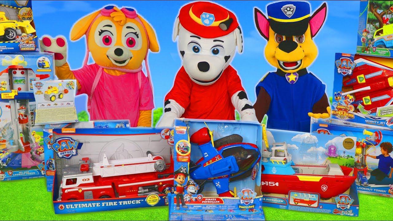 Patrulha canina Brinquedos  - Carrinho de Bombeiro - Paw Patrol Toys Unboxing