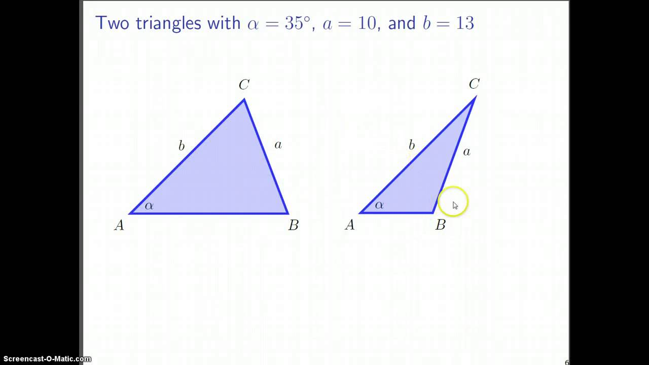 The Law Of Sines The Ambiguous Case Youtube
