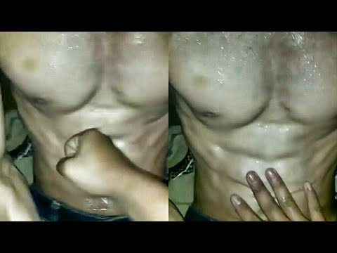 Remaja Berotot - Gut Punched - Sweaty Muscle Chest And Gut Punched