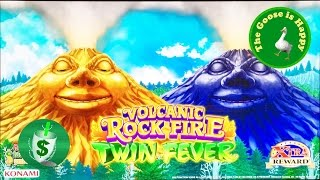 😄++NEW Volcanic Rock Fire Twin Fever slot machine, 2 sessions Happy Goose