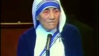 Mother Teresa speech about love and family