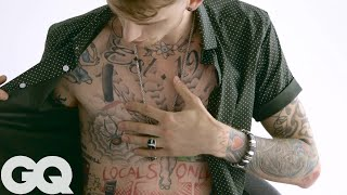 The Late-Night Ink of Machine Gun Kelly | Tattoo Tours | GQ