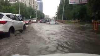 Дождь в Тюмени 8 июня 2015