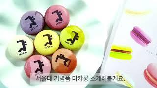 서울대학교 기념품 달달한 마카롱을 선물로 받았어요