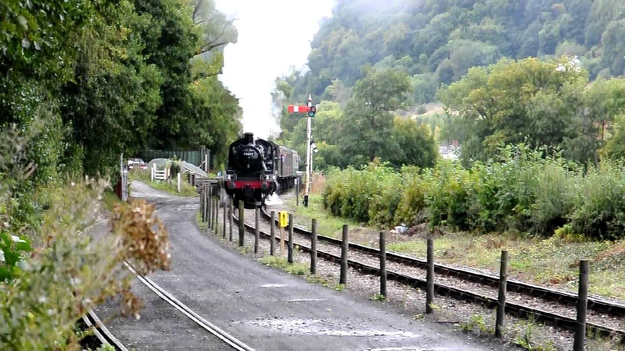 BR Standard Class 2 2-6-0 78019 and GWR 2-8-0 3802 at Llangollen Autumn  Gala, 9th September 2011