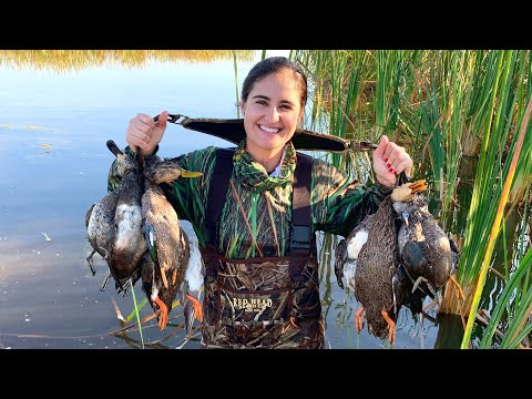 SHOT OUR LIMIT! FLORIDA DUCK HUNTING! CATCH AND COOK!!