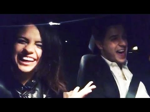 Selena Gomez & David Henrie Dinner & Car Sing-Along to Carrie Underwood!