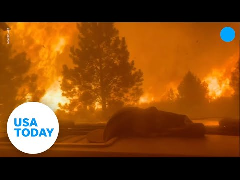 Firefighters race through dangerous wall of flames to escape death | USA TODAY