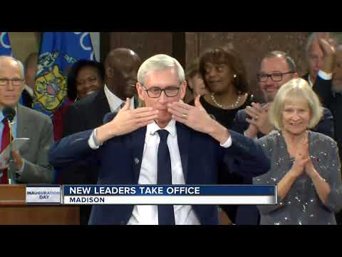 Tony Evers sworn in as Wisconsin's 46th governor