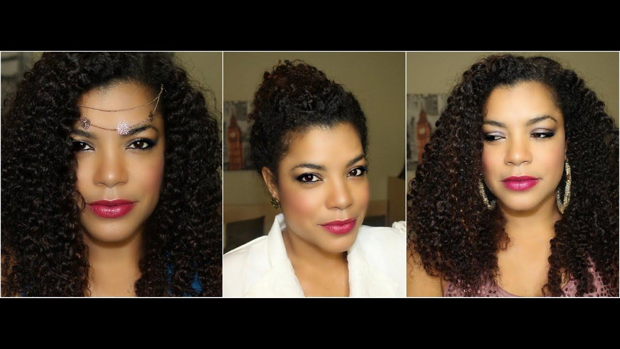 Peinados para cabello rizado natural para fiestas