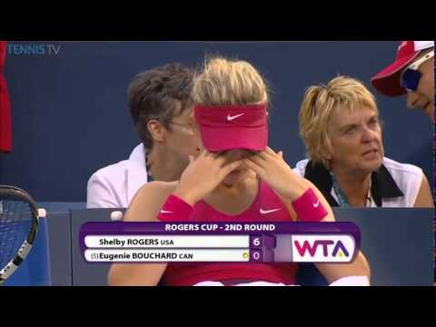 WTA 2014 Montreal R2 Shelby Rogers vs Eugenie Bouchard Part 03