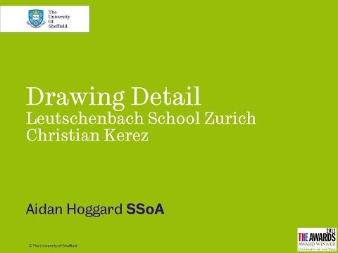 Drawing Detail Leutschenbach School Zurich Christian Kerez -