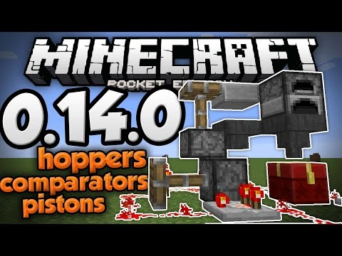 MCPE 0.14.0 UPDATE NEWS!!! - Hoppers, Comparators, & More Redstone! - Minecraft PE (Pocket Edition)