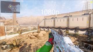 CoD: Black Ops III - 4K vs 1080p Comparison