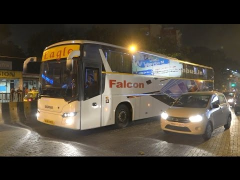 Highly Attractive Multi Axle Scania Buses of Eagle/Falcon Travels & H.K. Travels Taken In Mumbai