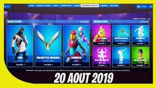 "FORTNITE BOUTIQUE of August 20, 2019! New SKIN ""Caïd""!"