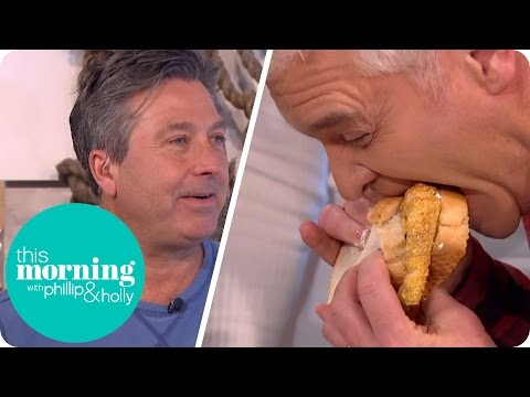 Phillip Tries To Get His Mouth Around John Torode's Immense Fish Finger Sandwich | This Morning