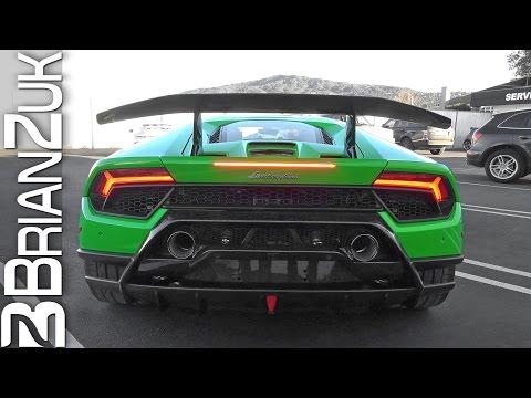 Lamborghini Huracan Performante Revving