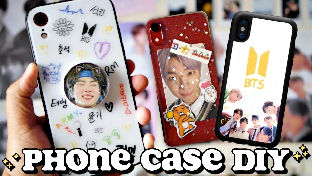 DIY Aesthetic KPOP Phone Case + Popsocket Ideas 2020! (BTS ...