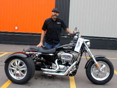 sportster trike conversion from st charles harley. Black Bedroom Furniture Sets. Home Design Ideas