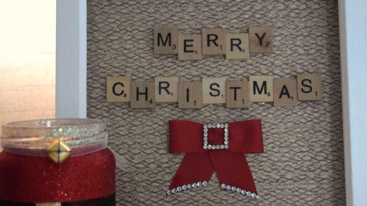 How To Create A Magical Christmas Scrabble Art Frame DIY