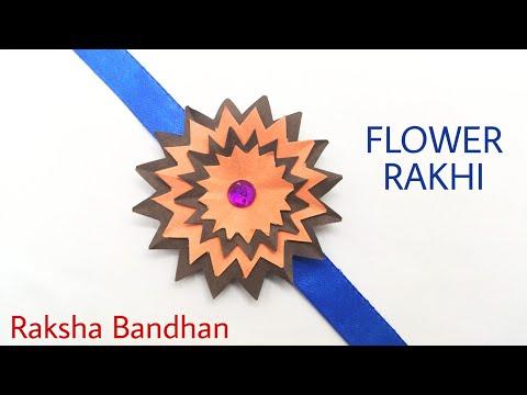 Spike Flower Rakhi Bracelet for Raksha Bandhan - DIY Tutorial by Paper Folds - 1003